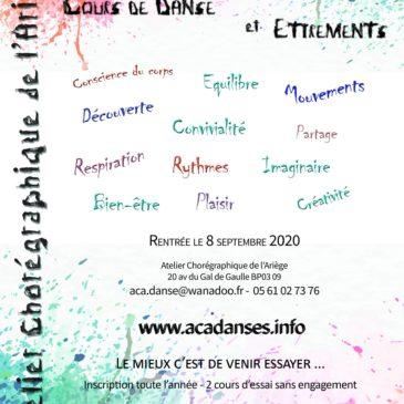 C'est la rentrée de l'Atelier Chorégraphique d'Ariège